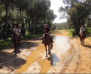 Paseo a caballo en parajes protegidos